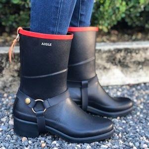 Aigle Miss Julie Short Rubber Rainboots